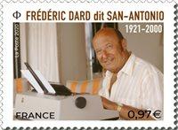 Frankrig - Frederic Dard - Postfrisk frimærke