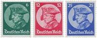 Tyske Rige 1933 - Michel 479-481 - Postfrisk