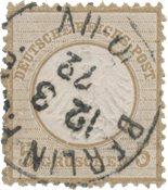 Tyske Rige 1872 - Michel 6 - Stemplet