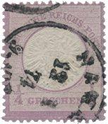 Tyske Rige 1872 -  Michel 16 - Stemplet