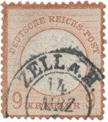 Tyske Rige 1872 - Michel 27a - Stemplet