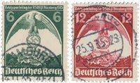 Tyske Rige - 1935 - Michel 586/587 - Stemplet