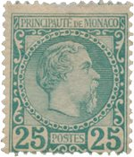 Monaco - 1885 - Yvert 6, neuf avec charnière