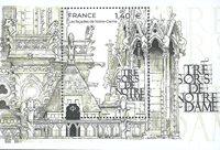 Frankrig - Notre-Dames skatte - Postfrisk miniark