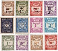 Algérie - Timbres taxe neufs, 12 différents