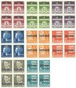 Danmark 1939-1972 - 8 postfærge 4-blokke - AFA PF 22+26+36+38+44+48-50 - Postfrisk