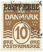 Danemark - Postfaerge AFA 12 oblitéré