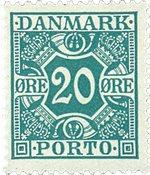 Danemark 1921-25 - Taxe 13 - Neuf sans ch.