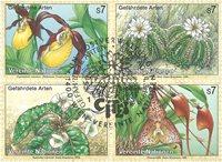 FN Wien - Truede planter 1996 - Stemplet sæt 4v