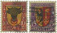 Schweiz 1918 - Michel 143/44 - Stemplet