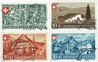 Schweiz 1945 - Michel 460/63 - Stemplet