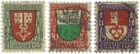 Schweiz 1919 - Michel 149/51 - Stemplet