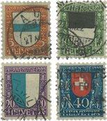 Schweiz 1922 - Michel 175-78 - Stemplet