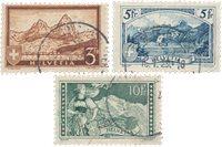 Suisse 1928 - Michel 226/228 - Oblitéré