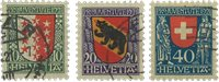 Schweiz 1921 - Michel 172-74 - Stemplet