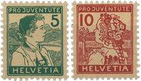 Schweiz 1915 - Michel 128-29 - Ubrugt