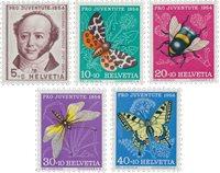 Schweiz 1954 - Michel 602/06 - Postfrisk
