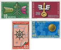Suisse 1954 - Michel 593/596