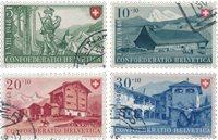 Suisse 1948 - Michel 508/11 - Oblitéré