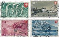 Suisse 1947 - Michel 480/83 - Oblitéré