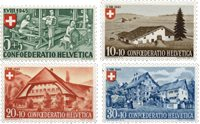 Schweiz 1945 - Michel 460/63 - Postfrisk