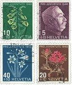 Suisse 1948 - Michel 514/17 - Oblitéré