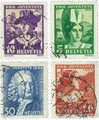Schweiz 1934 - Michel 281/84 - Stemplet