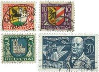 Suisse 1930 - Michel 241/44 - Oblitéré