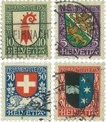 Schweiz 1926 - Michel 218/21 - Stemplet