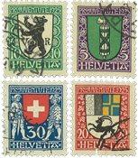 Schweiz 1925 - Michel 214/17 - Stemplet