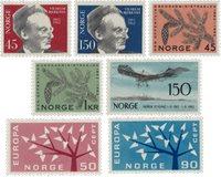 Norge 1962 - AFA 480/84 + 490/91 - Postfrisk