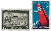 Luxembourg 1956 - Michel 551 + 558 - Neuf
