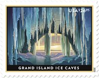United States - Grand Island Ice Caves - Mint stamp