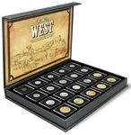 USA - 1899-2013 - Det vilde Vesten - 20 mønter i et skrin