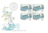 Finland 1986 - FDC - Firblok - LAPE nr. 982