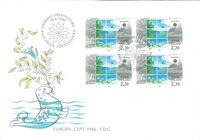 Finland 1986 - FDC - Firblok - LAPE nr. 983