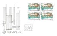 Finland 1987 - FDC - Firblok - LAPE nr. 1018