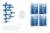 Finland 1987 - FDC - Firblok - LAPE nr. 1027