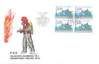 Finland 1988 - FDC - Firblok - LAPE nr. 1054