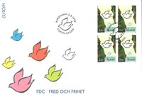 Åland 1995 - FDC - Firblok - LAPE nr. 100