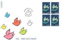 Åland 1995 - FDC - Firblok - LAPE nr. 101