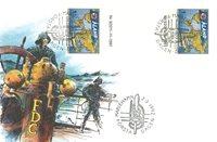 Åland 1992 - Env.premier jour avec gutterpair - LAPE no 55