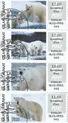Franking labels 2019 - Grl. Post - Date cancellation - Collectors strip