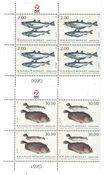 Fisk i Grønland II - Postfrisk - 4-blok nedre marginal
