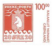 Pakke-porto 100 år III - Postfrisk - Frimærke