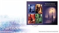 England - Sherlock Holmes - Førstedagskuvert med miniark