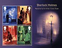England - Sherlock Holmes - Postfrisk miniark