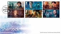 England - Sherlock Holmes - Førstedagskuvert 6v