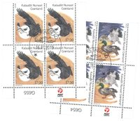 EUROPA - National Birds - Date cancellation - Block of four lower marginal