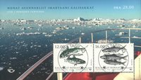 Fish in Nordic waters - Central date cancellation - Souvenir sheet